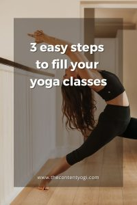 3 easy steps to fill your yoga classes